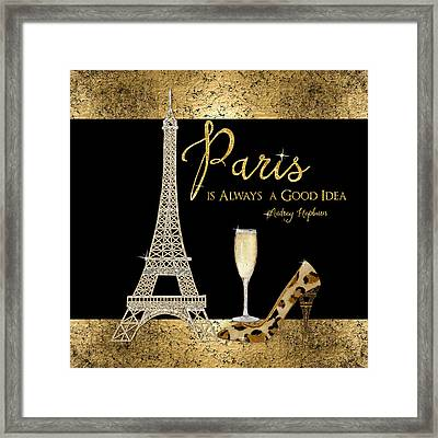 Paris Is Always A Good Idea - Audrey Hepburn Framed Print by Audrey Jeanne Roberts