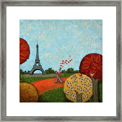 Paris Je T Aime Framed Print by Graciela Bello