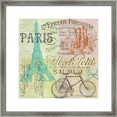 Paris-jp1664-h Framed Print by Jean Plout