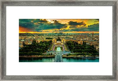 Paris Landscape Framed Print