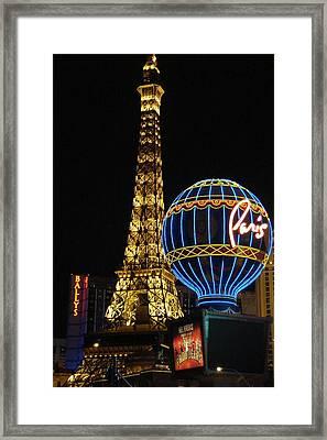 Paris Las Vegas Framed Print by Kimberly Hill