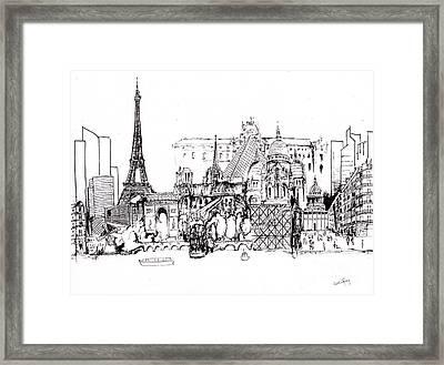 Paris Medley Monochrome Framed Print