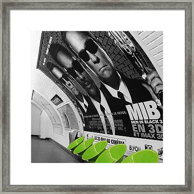 Paris Metro 4 Framed Print by Andrew Fare