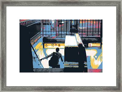 Paris Metro Entrance  Framed Print