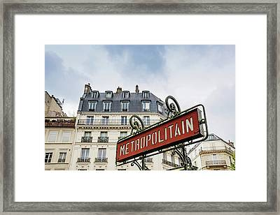 Framed Print featuring the photograph Paris Metro by Melanie Alexandra Price