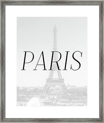 Paris Minimalistic Framed Print