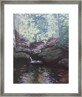Paris Mountain Waterfall Framed Print