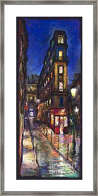 Paris Old Street Framed Print by Yuriy  Shevchuk