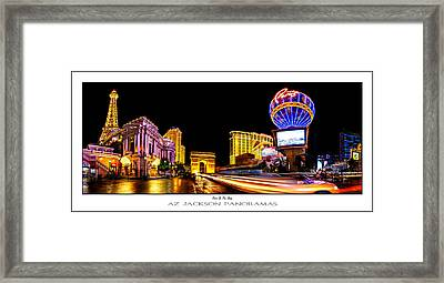 Paris On The Strip Poster Print Framed Print by Az Jackson