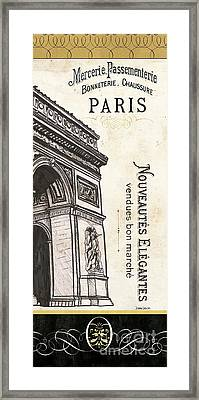 Paris, Ooh La La 2 Framed Print by Debbie DeWitt