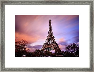 Framed Print featuring the photograph Paris Pastels by Jennifer Casey