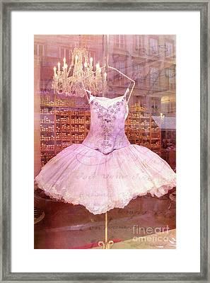 Paris Pink Ballerina Tutu - Paris Pink Ballerina Tutu Framed Print