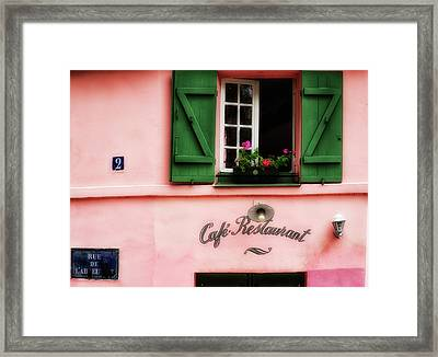 Paris Pink House Framed Print