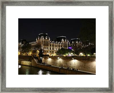 Framed Print featuring the photograph Paris Police Headquarters by Andrew Fare