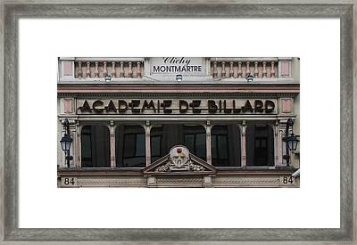 Paris Pool Hall Framed Print by Andrew Fare