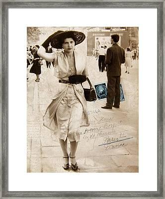 Paris Postcard Framed Print
