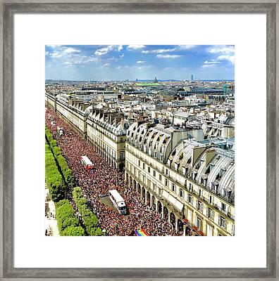 Paris Pride March 2018 Framed Print