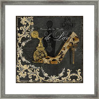 Paris - Queen Of Fashion - Reine De La Mode De Paris Framed Print by Audrey Jeanne Roberts
