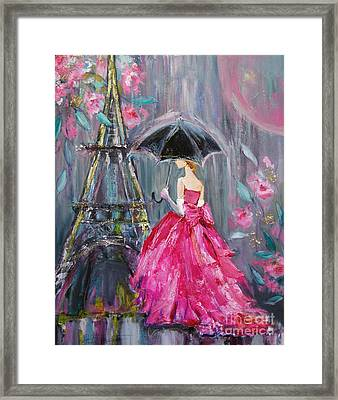 Paris Rain Framed Print by Jennifer Beaudet