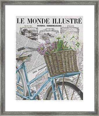 Paris Ride 1 Framed Print by Debbie DeWitt