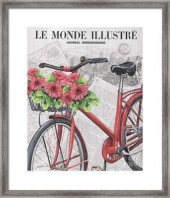 Paris Ride 2 Framed Print by Debbie DeWitt