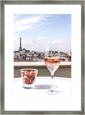 Paris Rooftop Views Framed Print by Shaun McDonald