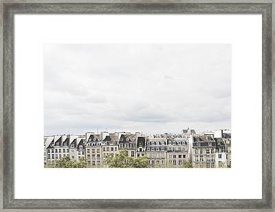 Paris Rooftops View From Centre Pompidou Framed Print