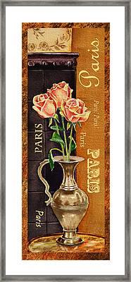 Paris Roses Framed Print by Irina Sztukowski