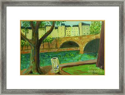 Framed Print featuring the painting Paris Rubbish by Paul McKey