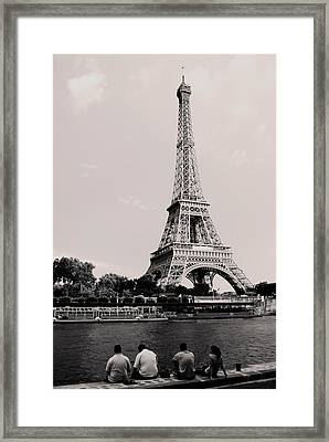 Paris Framed Print by Sarah Jean Sylvester