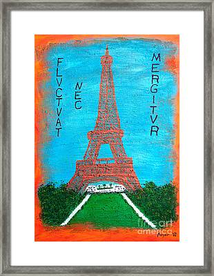 Framed Print featuring the painting Paris by Sascha Meyer