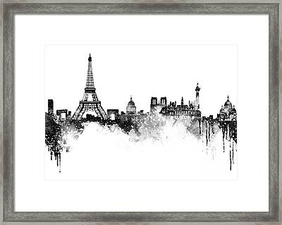 Paris Skyline Italy Framed Print