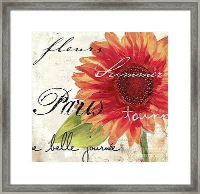 Paris Songs II Framed Print