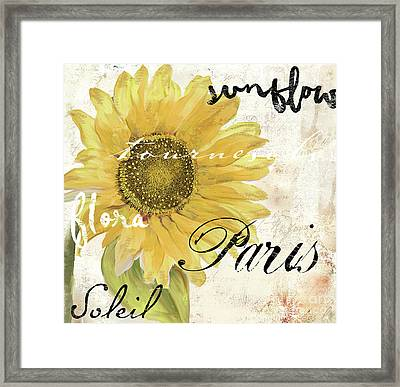 Paris Songs Framed Print by Mindy Sommers