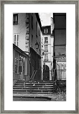 Paris Stairs Framed Print by Madeline Ellis