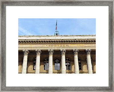 Paris Stock Exchange Framed Print