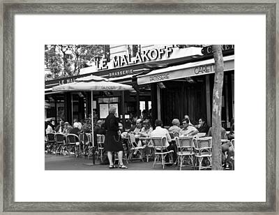 Paris Street Cafe - Le Malakoff Framed Print by Georgia Fowler