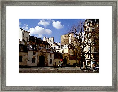 Framed Print featuring the digital art Paris Street Larry Darnell by Larry Darnell