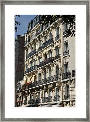 Paris Street Scene Framed Print by Christine Jepsen