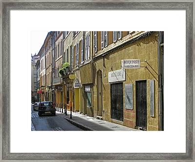 Paris Street Scene Framed Print