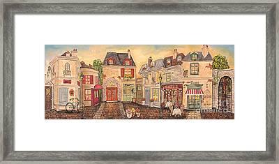 Paris Street Scene-jp2861 Framed Print by Jean Plout
