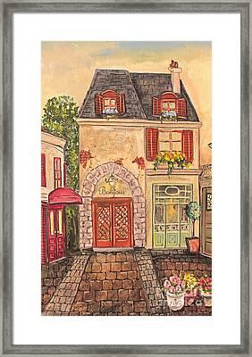Paris Street Scene-jp2863 Framed Print by Jean Plout