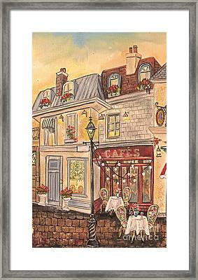 Paris Street Scene-jp2864 Framed Print by Jean Plout