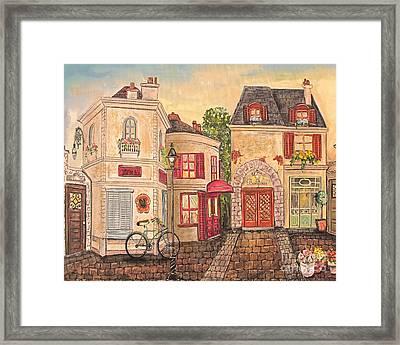 Paris Street Scene-jp2866 Framed Print by Jean Plout