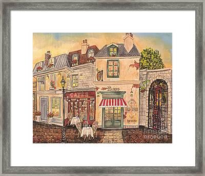 Paris Street Scene-jp2867 Framed Print by Jean Plout