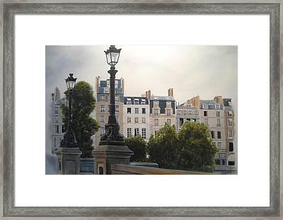 Paris Stroll Framed Print by Victoria Heryet