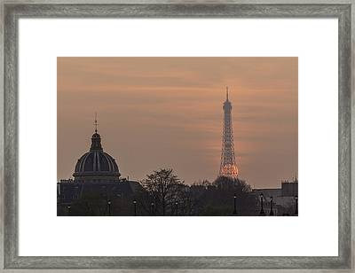 Paris Sunset II Framed Print