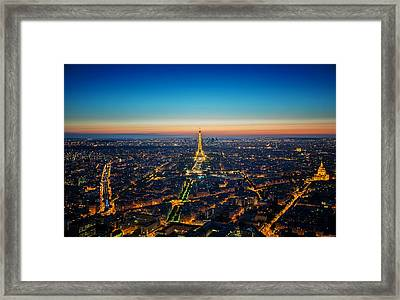 Paris Sunset Framed Print by Ryan Wyckoff