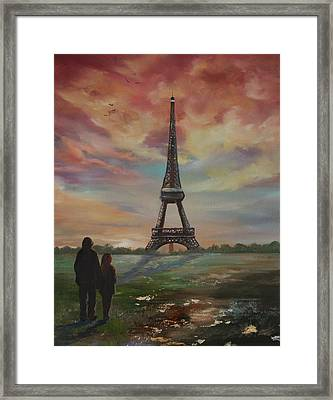 Paris The City Of Love And Romance Framed Print by Jean Walker