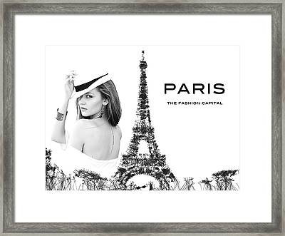 Paris The Fashion Capital Framed Print